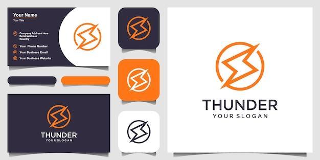 Lightning bolt minimal simple symbol creative flash sign design vector template