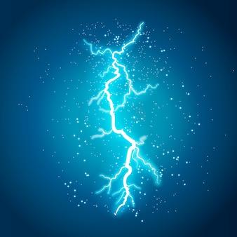 Lightning flash light thunder chispas sobre un fondo transparente
