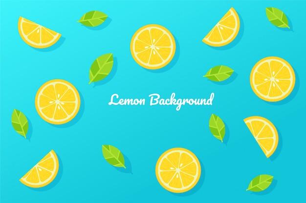 Limón y fondo azul