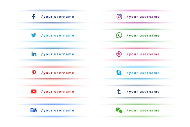 Limpia elegante redes sociales inferior tercera colección