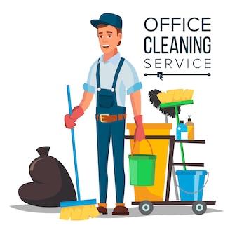 Limpiador de oficina