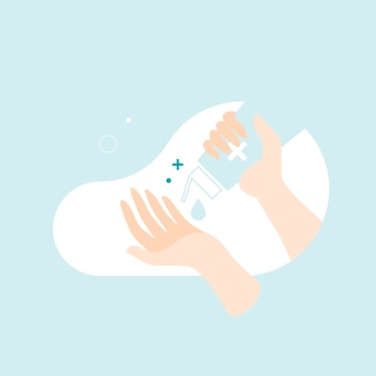 Limpiar las manos con gel desinfectante para prevenir el coronavirus