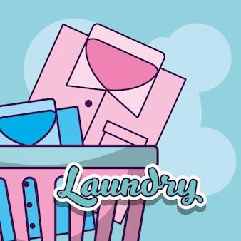 Limpieza de lavandería relacionada