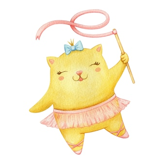 Linda bailarina gato bailando