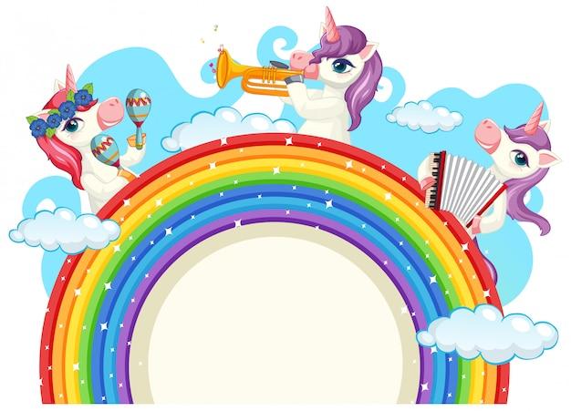 Linda banda musical de unicornio