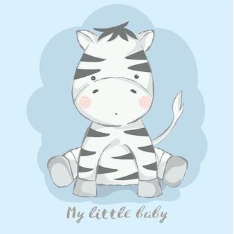 Linda bebé cebra