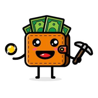 Linda billetera es un minero de dinero