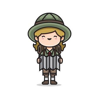 Linda chica exploradora