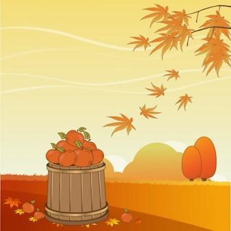 Linda escena de otoño
