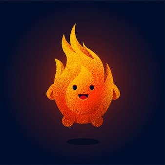 Linda ilustración de fuego