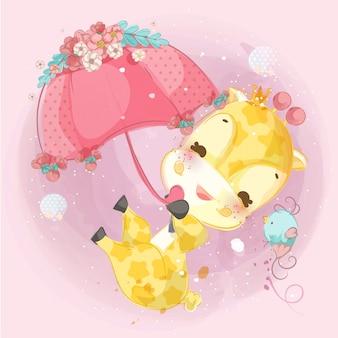 Linda ilustración infantil de animales