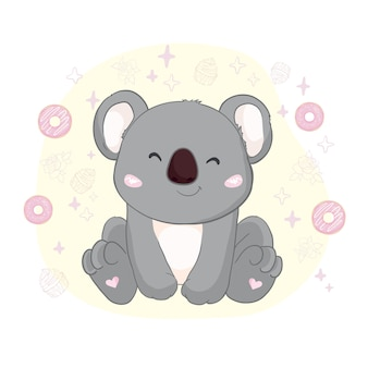 Linda ilustración de koala