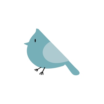 Linda ilustración de un pájaro
