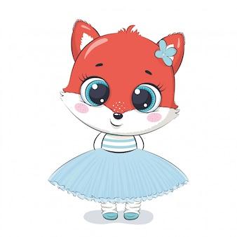 Linda ilustración de zorro.