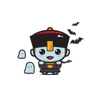 Linda mascota vampiro chino