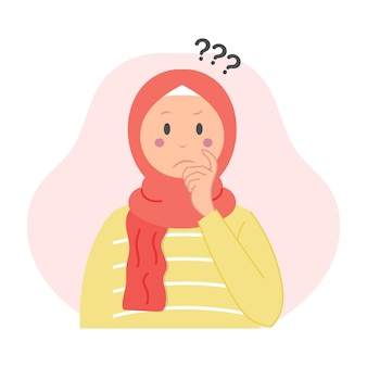 Linda mujer musulmana hacer una pregunta
