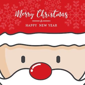 Linda navidad de santa hoilday con letras dibujadas a mano