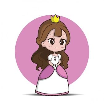 Linda niña con una princesa