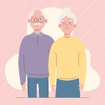Linda pareja de ancianos