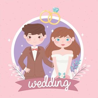 Linda pareja de boda