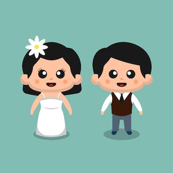 Linda pareja de novios para boda