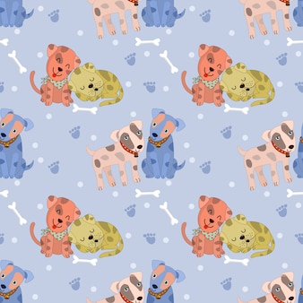 Linda pareja perro de patrones sin fisuras
