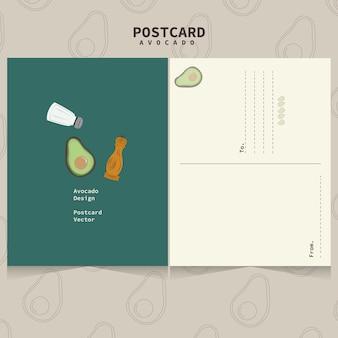 Linda plantilla de aguacate para postales.