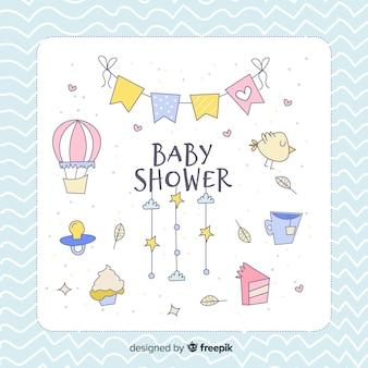 Linda plantilla de baby shower