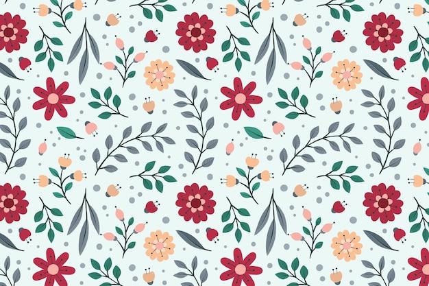 Linda plantilla floral de patrones sin fisuras
