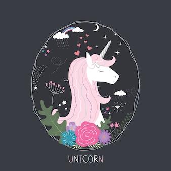 Linda princesa del unicornio.
