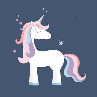 Linda princesa del unicornio