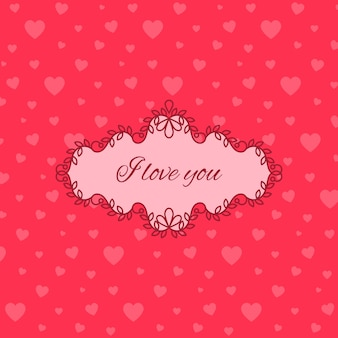 Linda rosa te amo tarjeta