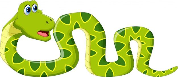 Linda serpiente de dibujos animados