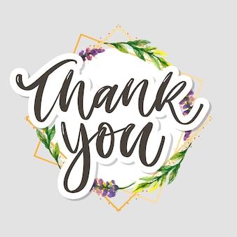 Linda tarjeta de agradecimiento con flores texto de carta
