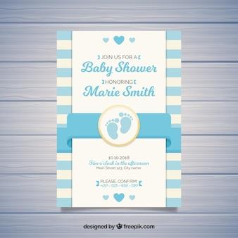 Linda tarjeta de fiesta del bebé