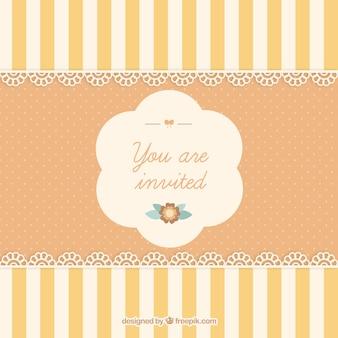 Linda tarjeta de invitación