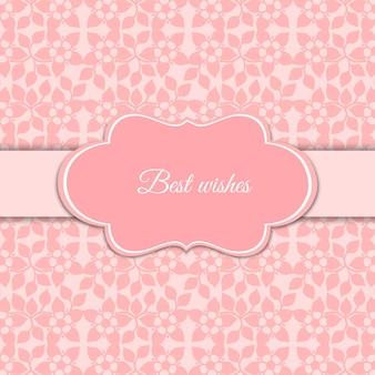 Linda tarjeta rosa de flores romántica