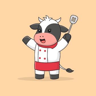 Linda vaca de chef