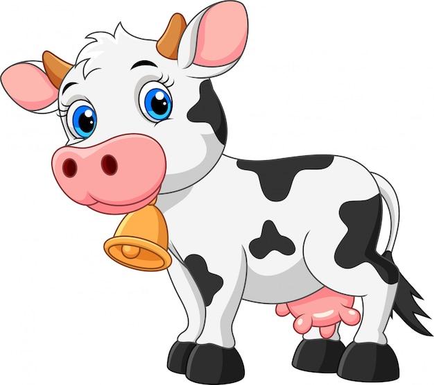 Linda vaca de dibujos animados