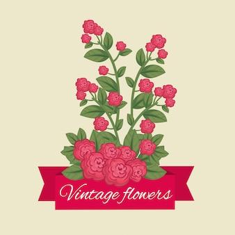 Lindas flores con pétalos y hojas naturales.
