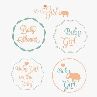 Lindas insignias de fiesta del bebé