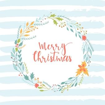 Lindas tarjetas de regalo y letras navideñas dibujadas a mano. se puede utilizar como póster con cita, diseño de camiseta o elemento de decoración del hogar. tipografía vectorial. plantilla editable fácil.