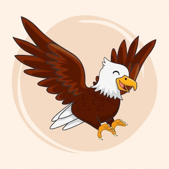 Lindo, águila, caricatura