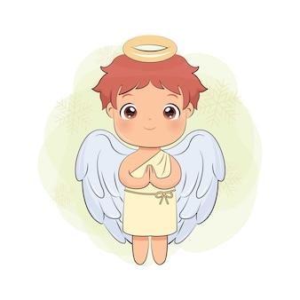 Lindo ángel masculino para decoración navideña