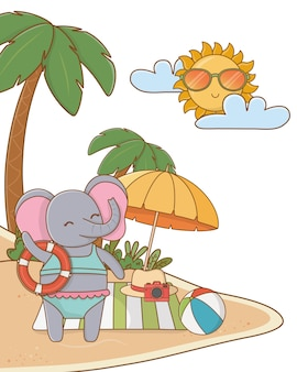 Lindo animal disfrutando de las vacaciones de verano.