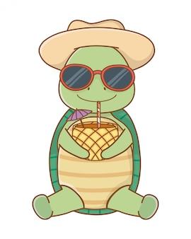 Lindo animal disfrutando de las vacaciones de verano