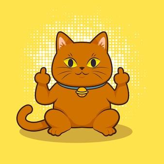 Lindo animal mostrando símbolo de mierda