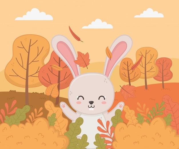 Lindo animal en temporada de otoño