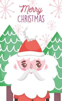 Lindo árbol de santa claus feliz navidad