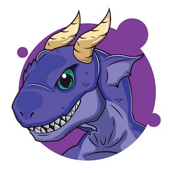 Lindo avatar de dragon púrpura